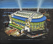 Football Paintings - Amsterdam ArenA - Ajax by D J Rogers