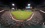 Baseball Photographs Prints - Anaheim Angels Stadium Print by Peak Photography by Clint Easley