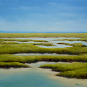 Galveston Paintings - Anahuac Afternoon by Karen Butcher