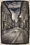 Ancient Street Prague Fine Art Print by Valerii Tkachenko