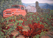 Grape Vineyard Originals - Ancient Truck by Donna Schaffer
