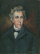 Fought Framed Prints - Andrew Jackson Framed Print by Kaziah Hancock