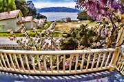Garrison Cove Photos - Angel Island - The Generals Veranda by David Rigg