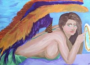 Vixen Paintings - Angel of Death by Melissa Darnell Glowacki