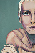 Annie Lennox Framed Prints - Annie Lennox Talk To Me Framed Print by Christel  Roelandt