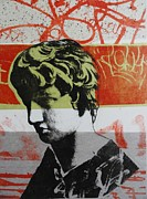 Statue Portrait Mixed Media Prints - Antinous V Print by Carmine Santaniello