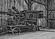 Steve Harrington - Antique Hay Baler monochrome