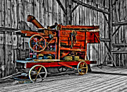 Steve Harrington - Antique Hay Baler selective color