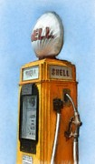 Michelle Calkins - Antique Shell Gas Pump