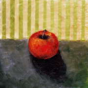 Michelle Calkins - Apple Still Life with Grey and Olive