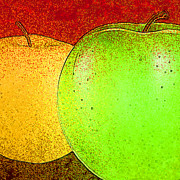 Apple Digital Art Posters - Apples Poster by David G Paul