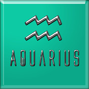 Francis Digital Art Posters - Aquarius Poster by Fran Riley