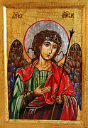 Book Of Daniel Prints - Archangel Michael Icon Print by Ryszard Sleczka