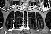 Discord Prints - architectural details and windows of casa batllo modernisme style building in Barcelona Catalonia Sp Print by Joe Fox