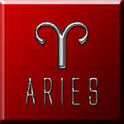 Francis Digital Art Posters - Aries Poster by Fran Riley