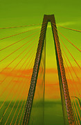 Arthur Ravenel Jr Bridge V Print by DigiArt Diaries by Vicky B Fuller