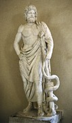 Statue Portrait Metal Prints - Asclepius. 4th C. Bc. Classical Greek Metal Print by Everett