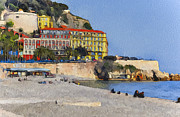 Old Town Digital Art Framed Prints - at Nice 2 Framed Print by Yury Malkov