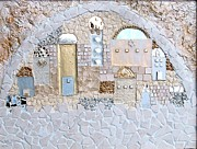 Jerusalem Mixed Media Posters - At The Gate Of The City Poster by Reli Wasser