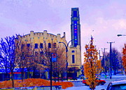 Verdun Landmarks Framed Prints - Atwater Market In Winter South West Montreal Historic St Henri Landmark City Scenes Carole Spandau Framed Print by Carole Spandau