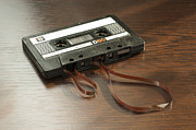 Tape Player Prints - Audio tape cassette with subtracted out tape Print by Deyan Georgiev