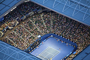 Human Beings Photo Framed Prints - Australlian Open Tennis Venues, Rod Framed Print by Brett Price