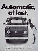 Hippie Van Posters - Automatic At Last Poster by Nomad Art And  Design
