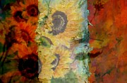 Flower Still Life Prints Prints - Autumn Abstraction Print by France Laliberte