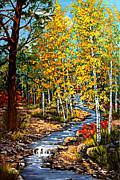 Reno Nevada Painting Prints - Autumn Gold Print by Julie Townsend