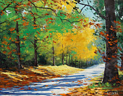Foliage Paintings - Autumn in Mt Wilson by Graham Gercken