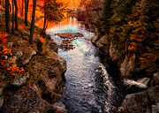 Outdoors Tapestries Textiles - Autumn In West Paris by Bob Orsillo