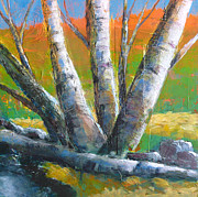 Serene Landscape Painting Originals - Autumn Splendor by Melody Cleary