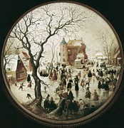 Winter Sports Picture Prints - Avercamp, Hendrik Van 1585-1634. A Print by Everett