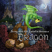 Fantasy Art Posters - Baby Dragon Poster by Evie Cook