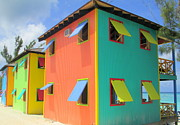 Caribbean Architecture Prints - Back Of Cabins 1 Print by Randall Weidner