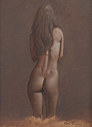 Female Form Prints - Backside Print by Eddie Torres