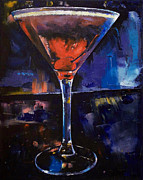 Nightclub Posters - Backstage Martini Poster by Michael Creese