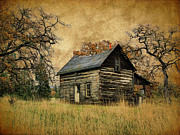 Kinkade Style Photo Posters - Backwoods Cabin Poster by Steve McKinzie