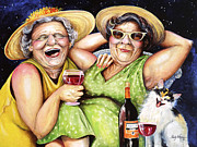 Laughing Paintings - Bahama Mamas by Shelly Wilkerson