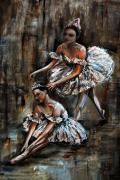 Pallet Knife Mixed Media - Ballerina by Nancy Bradley