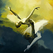 Dancer Paintings - Ballet Dancer by Corporate Art Task Force