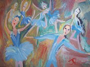 Ballet Dancers Paintings - Ballet mash up by Judith Desrosiers