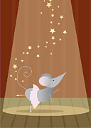 Christy Beckwith - Ballet Mouse Nursery Art Girl
