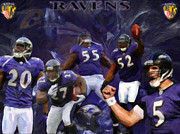 Baltimore Ravens Fine Art Print by Alonzo Butler