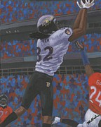 2012 Champions Posters - Baltimore Ravens Torrey Smith Poster by Mark Herndon