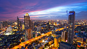 Fototrav Print - Bangkok City Skyline Sunset