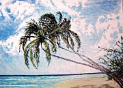 Caribbean Sea Paintings - Barbados Gold Coast by Ian  MacDonald