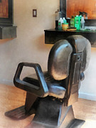 Hairdressers Posters - Barber - Barber Chair and Hair Supplies Poster by Susan Savad