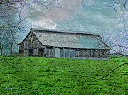 Photo Manipulation Mixed Media Framed Prints - BARN 15-Featured Comfortable Art-Barns Big and Small-Beauty Captured Framed Print by EricaMaxine  Price