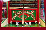 Baseball Bat Framed Prints - Baseball Arcade Game Framed Print by Art Block Collections